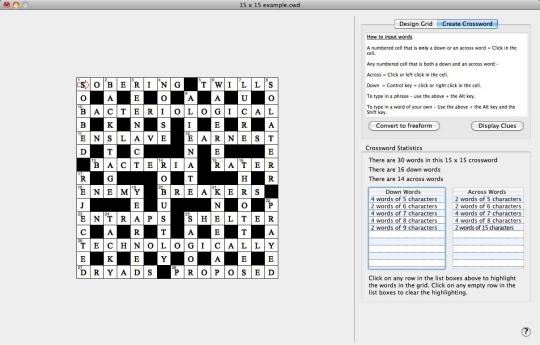 Crossword Editor
