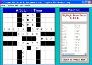 Crossword FillIns