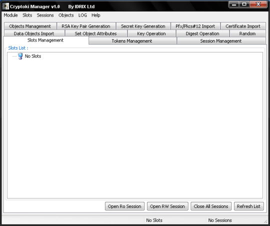 Cryptoki manager (64-bit)