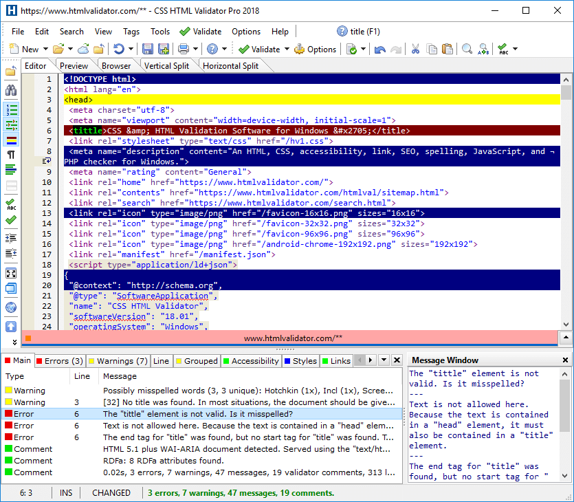 CSS HTML Validator Pro 2018