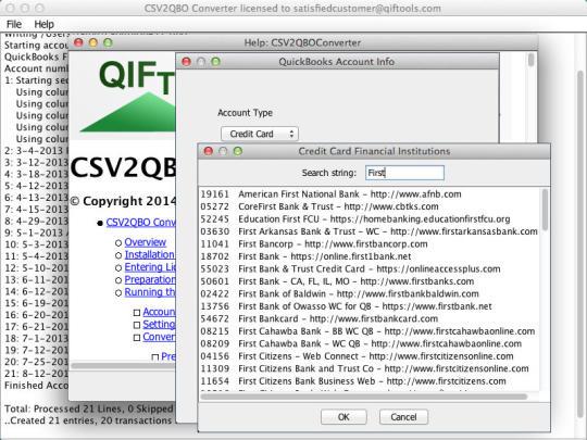 CSV2QBO Converter