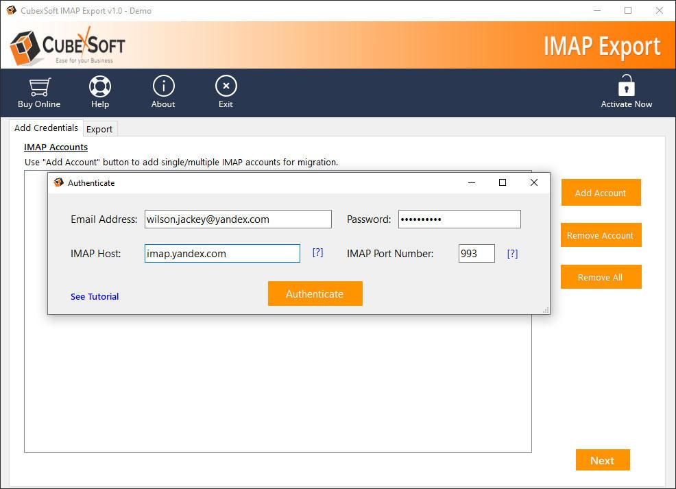 CubexSoft IMAP Export