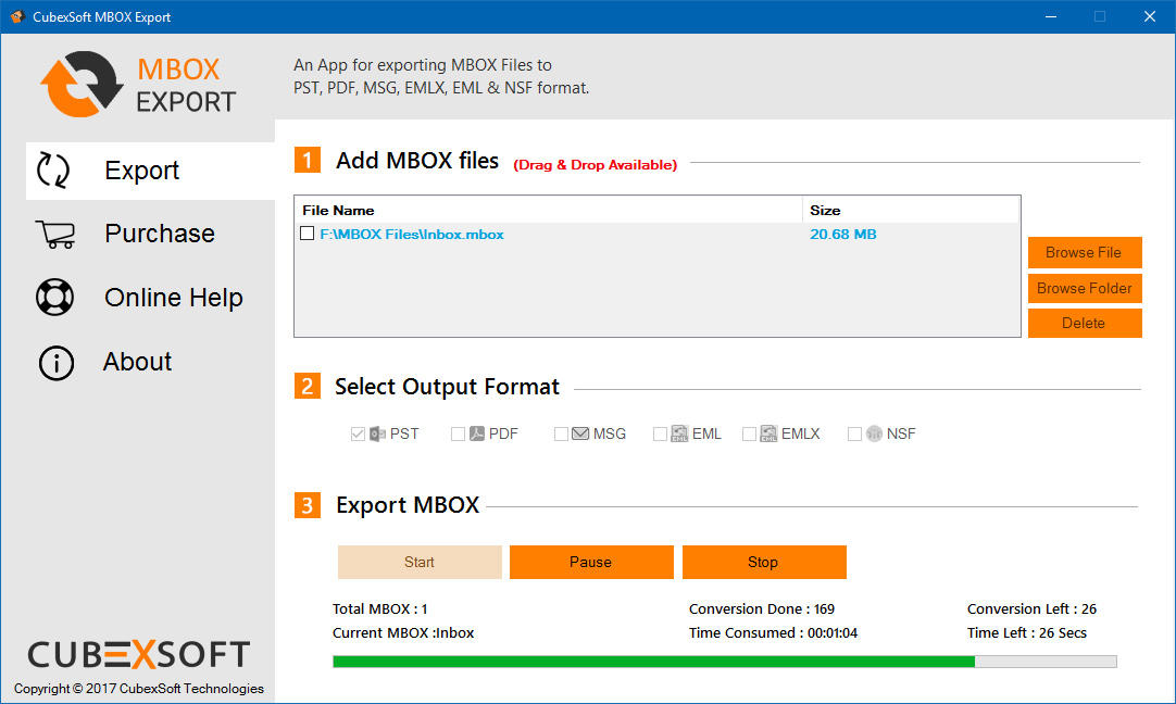CubexSoft MBOX Export