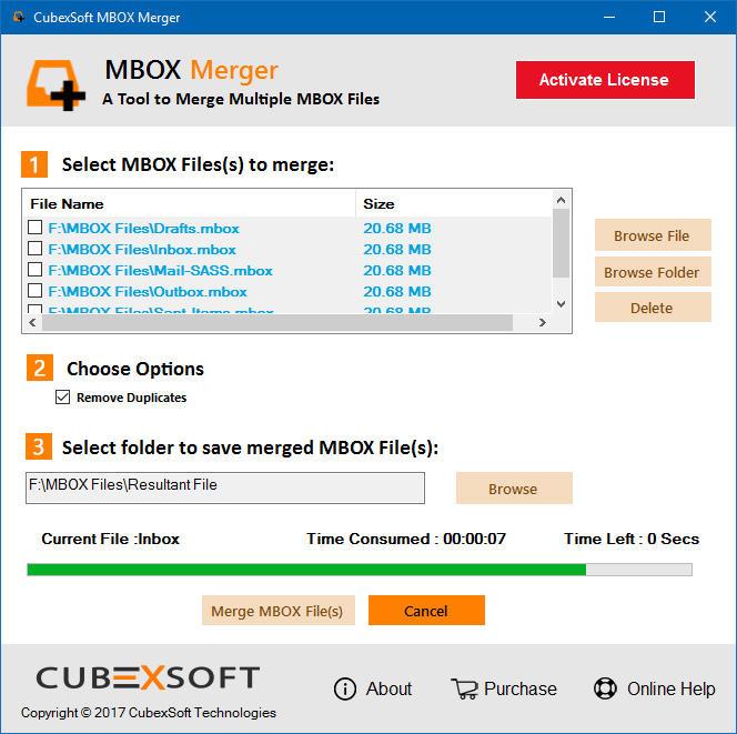 CubexSoft MBOX Merger