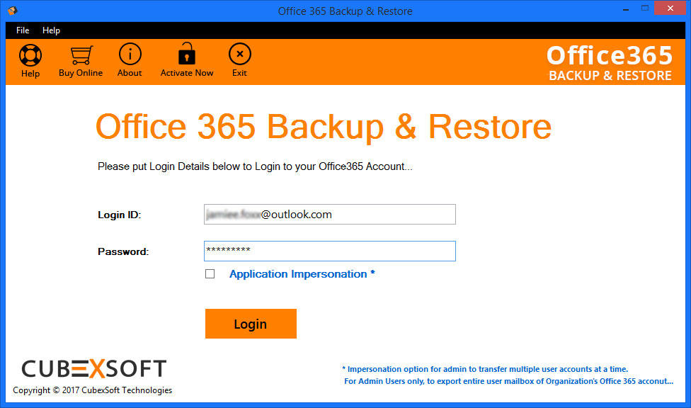 CubexSoft Office 365 Backup and Restore