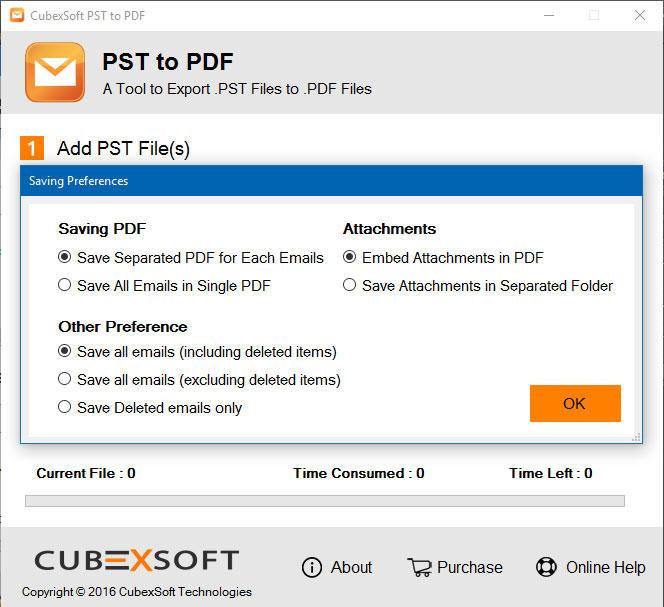 CubexSoft PST to PDF