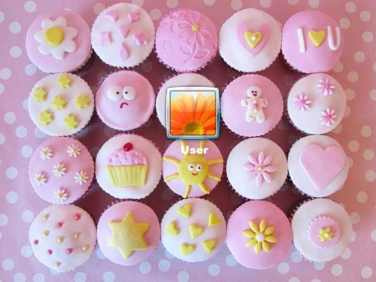Cupcakes Logon Screen