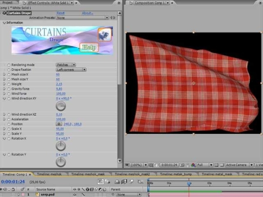 Curtains for After Effects CS3