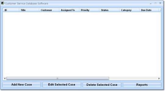 Customer Service Database Software
