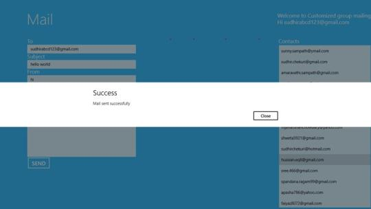 Customized Mail for Windows 8