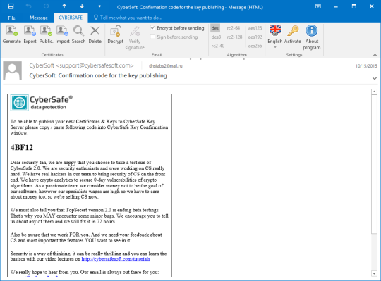 CyberSafe Mail