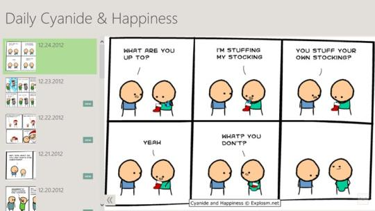 Daily Cyanide & Happiness for Windows 8