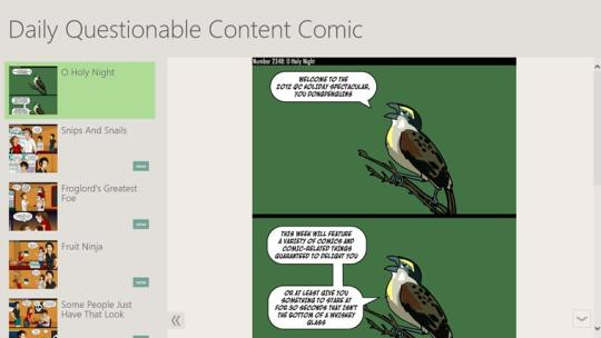 Daily Questionable Content Comic for Windows 8