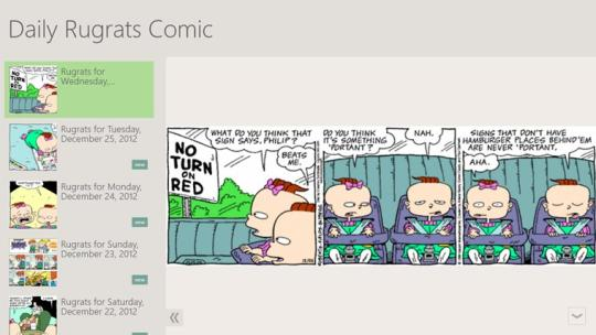 Daily Rugrats Comic for Windows 8