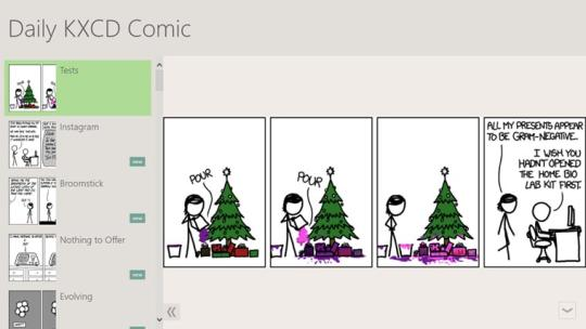 Daily XKCD Comic for Windows 8