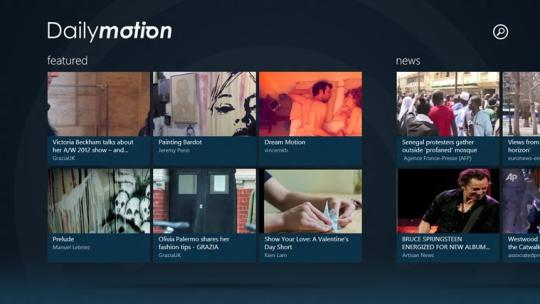 Dailymotion for Windows 8