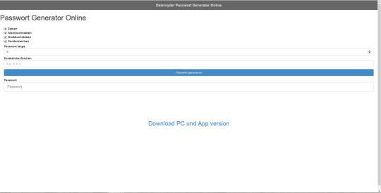 Dalenryder Passwort Generator Online