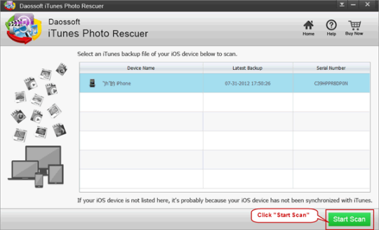 Daossoft iTunes Photo Rescuer