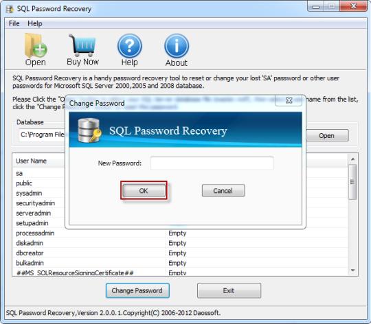 Daossoft SQL Password Rescuer