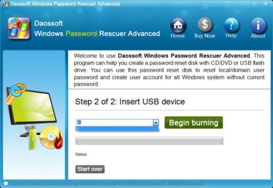 Daossoft Windows Password Rescuer Advanced