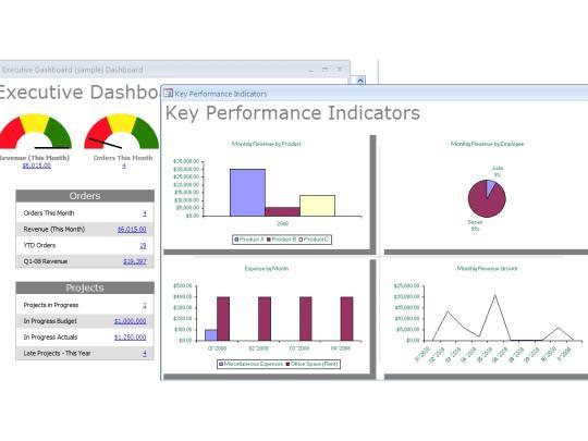 Dashboard Builder for Microsoft Access