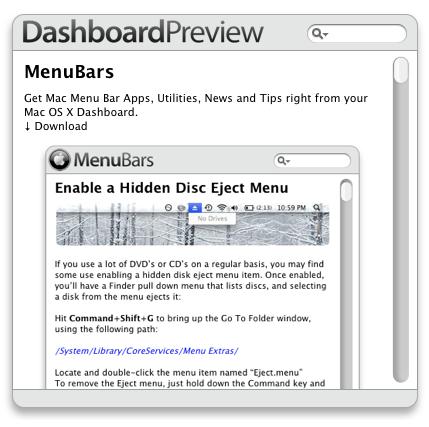 DashboardPreview Widget