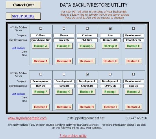 Data Backup Manager