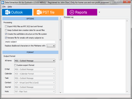 Data Extraction Kit for Outlook