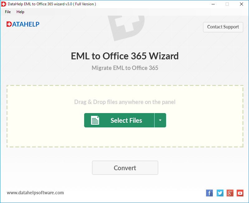 DataHelp EML to Office 365 Wizard