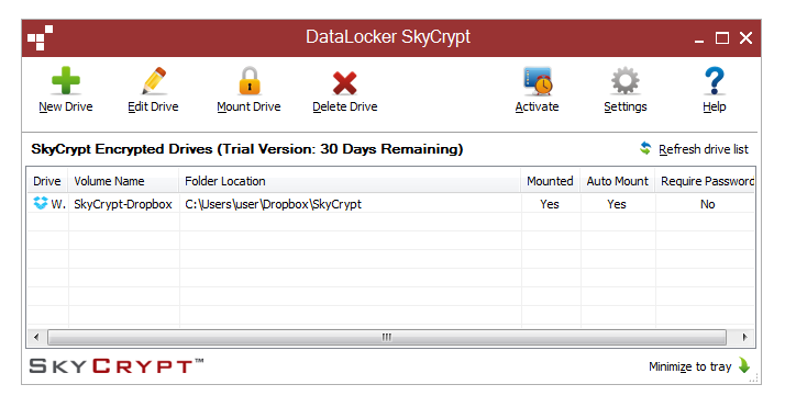 DataLocker SafeCrypt