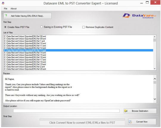 Datavare EML to PST Converter Expert