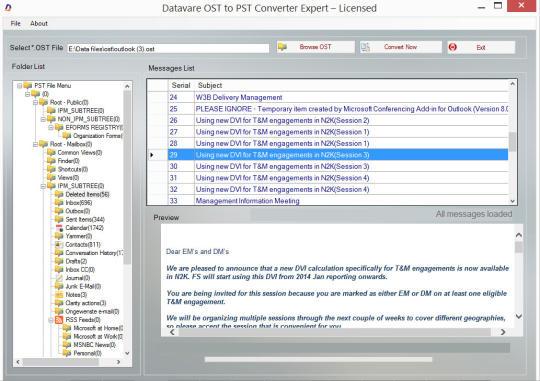 Datavare OST to PST Converter Expert