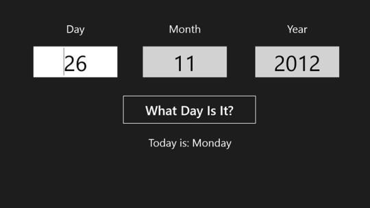 Day Calculator for Windows 8