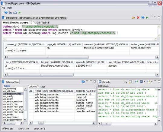 DB Explorer(eclipse plugin)