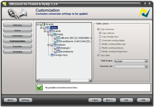 DBConvert for Firebird and MySQL