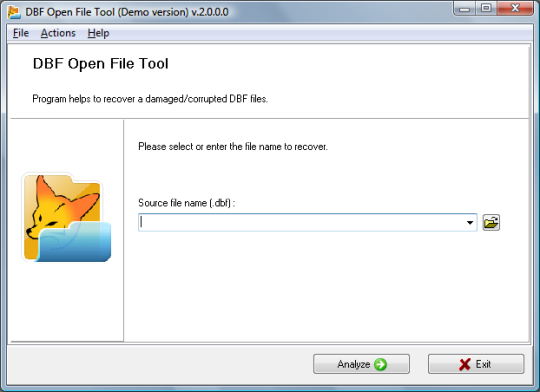 DBF Open File Tool