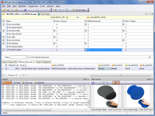 dbForge Data Compare Express for Oracle