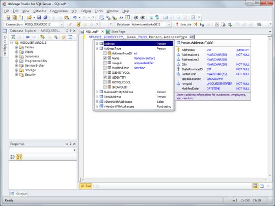 dbForge Studio for SQL Server Express