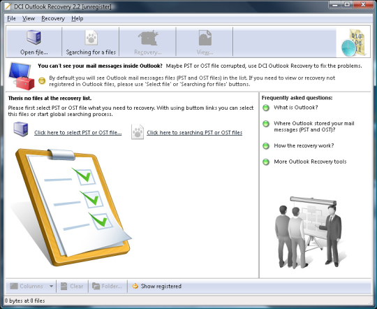 DCI Outlook Recovery
