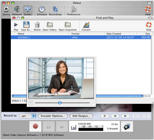 Debut Screen Capture Free for Mac