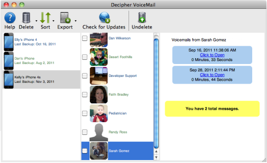 Decipher VoiceMail
