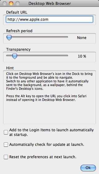 Desktop Web Browser