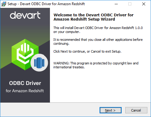 Devart ODBC Driver for Amazon Redshift