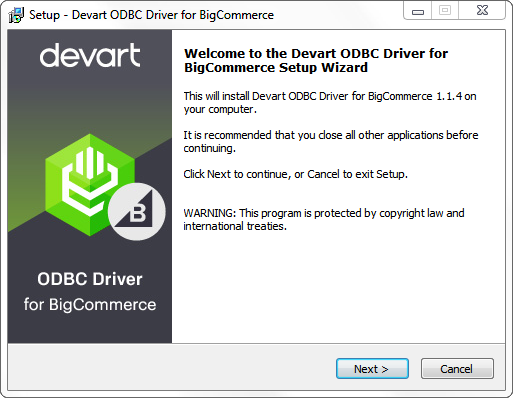Devart ODBC Driver for BigCommerce