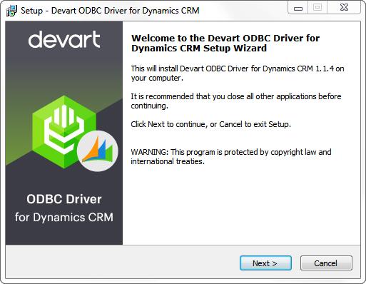 Devart ODBC Driver for Dynamics CRM