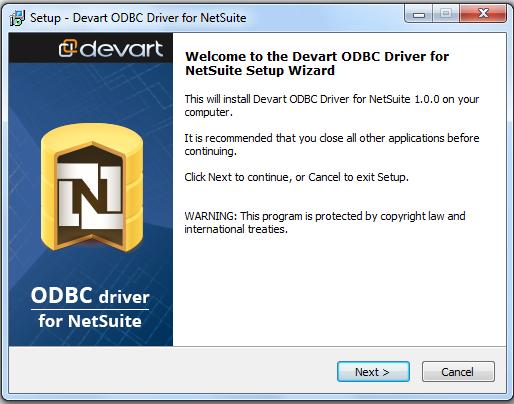 Devart ODBC Driver for NetSuite