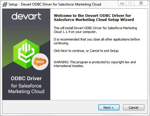 Devart ODBC Driver for Salesforce Marketing Cloud