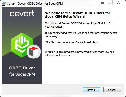 Devart ODBC Driver for SugarCRM