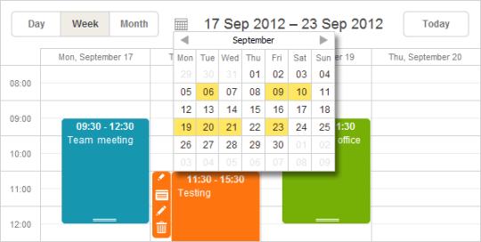 DHTMLX Scheduler .NET for ASP.NET