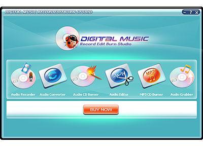 Digital Music Record Edit Burn Studio